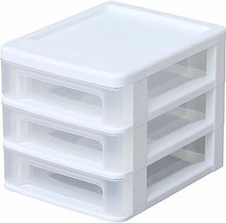 アイリスオーヤマ(IRIS) 収納ケース・ボックス ホワイト/クリア 17.75×22.2×17.6 DSC-B630