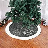 Llp Kits de patrón 37.4in árbol de Navidad Faldas Blancas del Copo de Nieve de la Estrella de la Pana de Navidad Año Nuevo decoración de Interior Grande al Aire Libre (Gris) (Color : Grey)