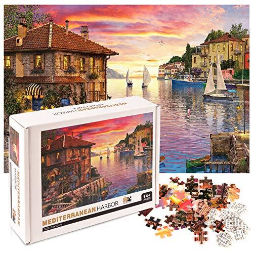 Herefun Jigsaw Puzzle 1000 Piezas, Juegos de Rompecabezas Puzzles Adolescentes Puzzle Rompecabezas, Juguete Educativo Intelectual de descompresión Divertido Juego Familiar, Regalos para Amigos