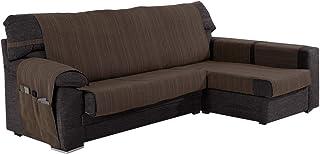 Funda Cubre Chaise Longue Modelo Darsena, Color Chocolate, Medida Brazo Derecho – 240cm (Mirándolo de Frente)