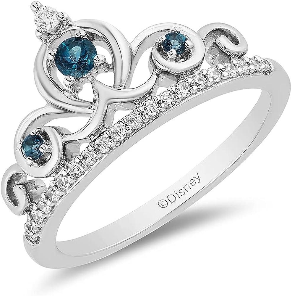 Jewelili Enchanted Disney Fine Jewelry Silver 1 Sterling 6 Memphis Mall Cttw free