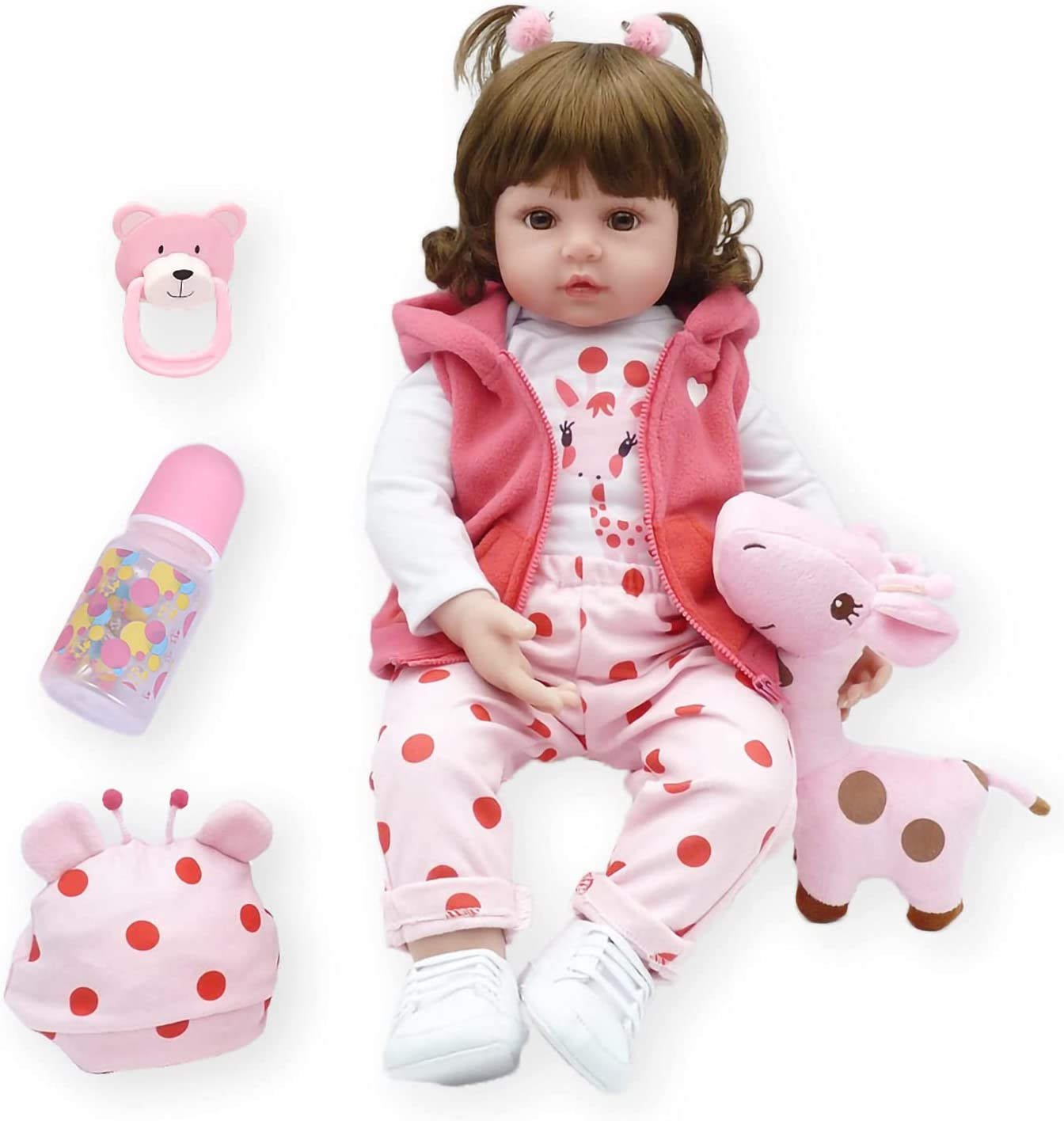 APCHY Reborn Baby Doll 25% OFF 19 Soft Max 75% OFF inch Silicone Toddler