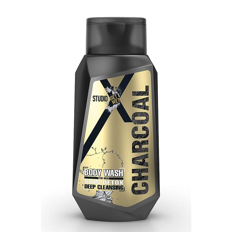 ばかげたアテンダントインフラSet Wet Studio X Charcoal Body Wash For Men, 180 ml