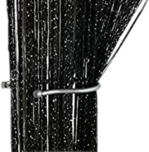 ZiDeTang Dense Glitter Flat String Door Curtain Divider Tassel Panel Color Black