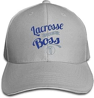 Lacrosse Like A Boss Sunscreen Sandwich Baseball Caps Unisex Trucker Style Hat Gray