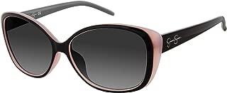 Jessica Simpson Women's J5012 Ox Non-polarized Iridium Cateye Sunglasses, Black, 68 mm