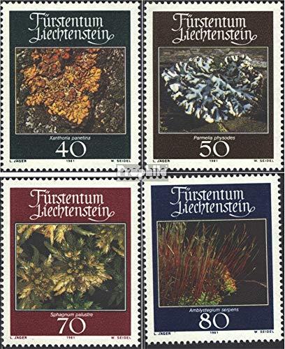 Prophila Collection Liechtenstein 776-779 (kompl.Ausg.) 1981 Moose und Flechten (Briefmarken für Sammler) Pflanzen