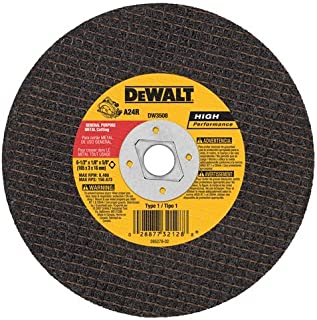 DEWALT DW3508 6-1/2-Inch by 1/8-Inch by 5/8-Inch A24R Abrasive Metal Cutting Wheel