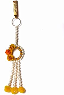 Saraa Dazzling Pink color Fabric Flower Pearl Satka/kamarband for Girls/Women