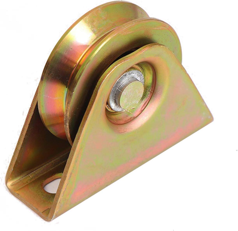 3in V Max 60% OFF Groove New item Wheel Plate Sliding Heav Casters Rolling Gate