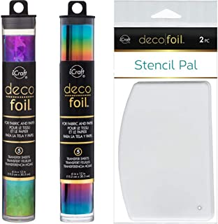 iCraft DFS6X12-54095 Deco Foil Specialty Transfer Sheets 6X12 5//Pkg-Rainbow Shattered Glass