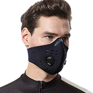 Symphonyw Dust Mask, Washable Reusable Anti Air Pollution Half Face Mouth Mask Adjustable..