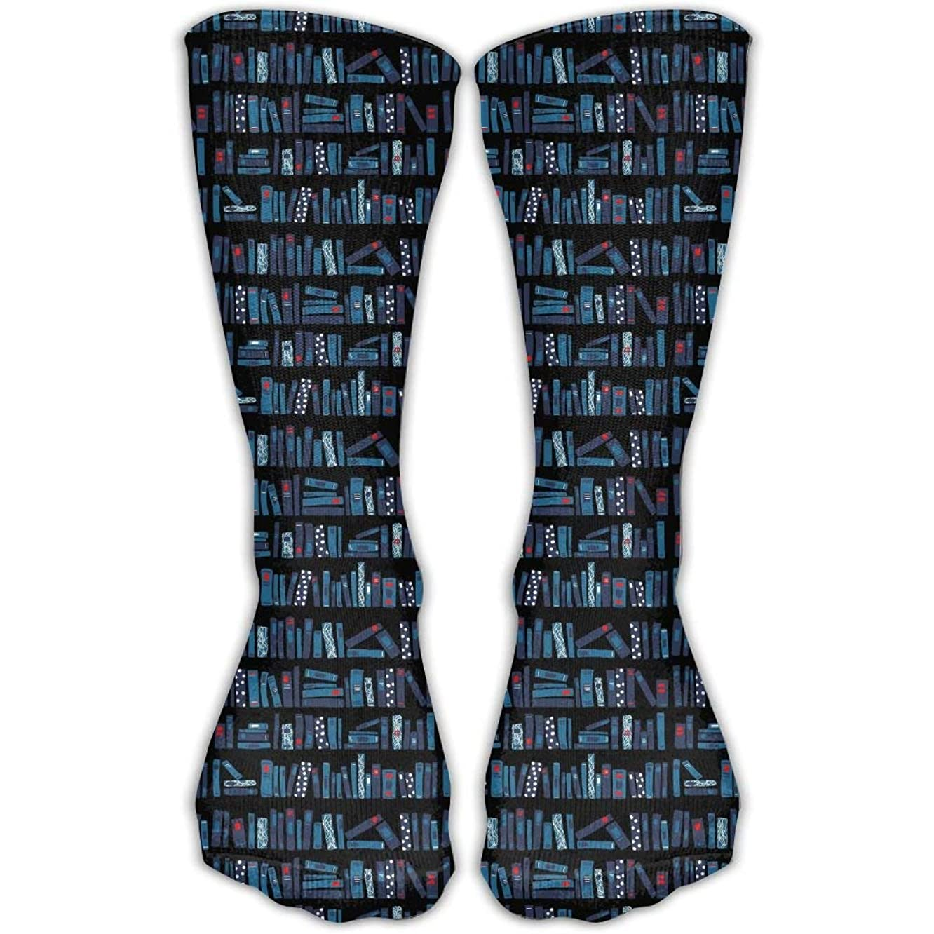 Men Women Novelty Books Bookstore Classic High Sock Athletic Crew Stocking Unisex
