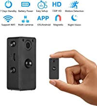 GXSLKWL Hidden Spy Camera Wake Up by APP – Wireless Mini Camera Ideal for Multiple Covert Applications, WiFi Camera Motion...