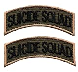 Suicide Tab Rocker Embroidered Hook Patch (2pc Bundle)