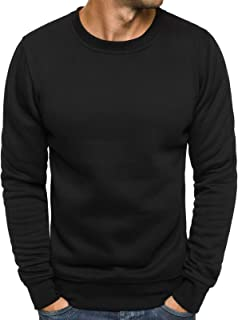 Ozone men's sports fitness training crewneck daily modern sweatshirt long sleeve sweatshirt jumper warm basic J. style 2001-10