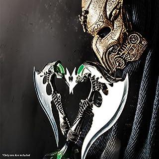 Alien Warrior Fantasy Battle Axe w/ Dagger & Plaque New