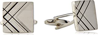 BUCKLE 1922 Men's Square Cufflinks, Nickel Brushed, One Size