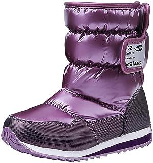d9f8ad6d3405 BININBOX Kids Warm Cotton Snow Boots Waterproof Winter Boots for Girls Boys