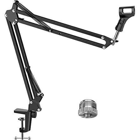 """InnoGear Microphone Arm, Upgraded Mic Arm Microphone Stand Boom Suspension Stand with 3/8"""" to 5/8"""" Screw Adapter Clip for Blue Yeti Snowball, Yeti Nano, Yeti x and other Mic, Medium"""