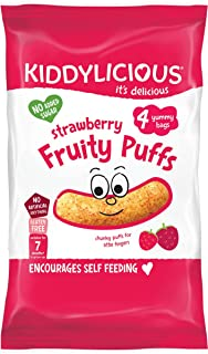 Kiddylicious Multipack Strawberry Puffs, Pack of 3, 12-Counts