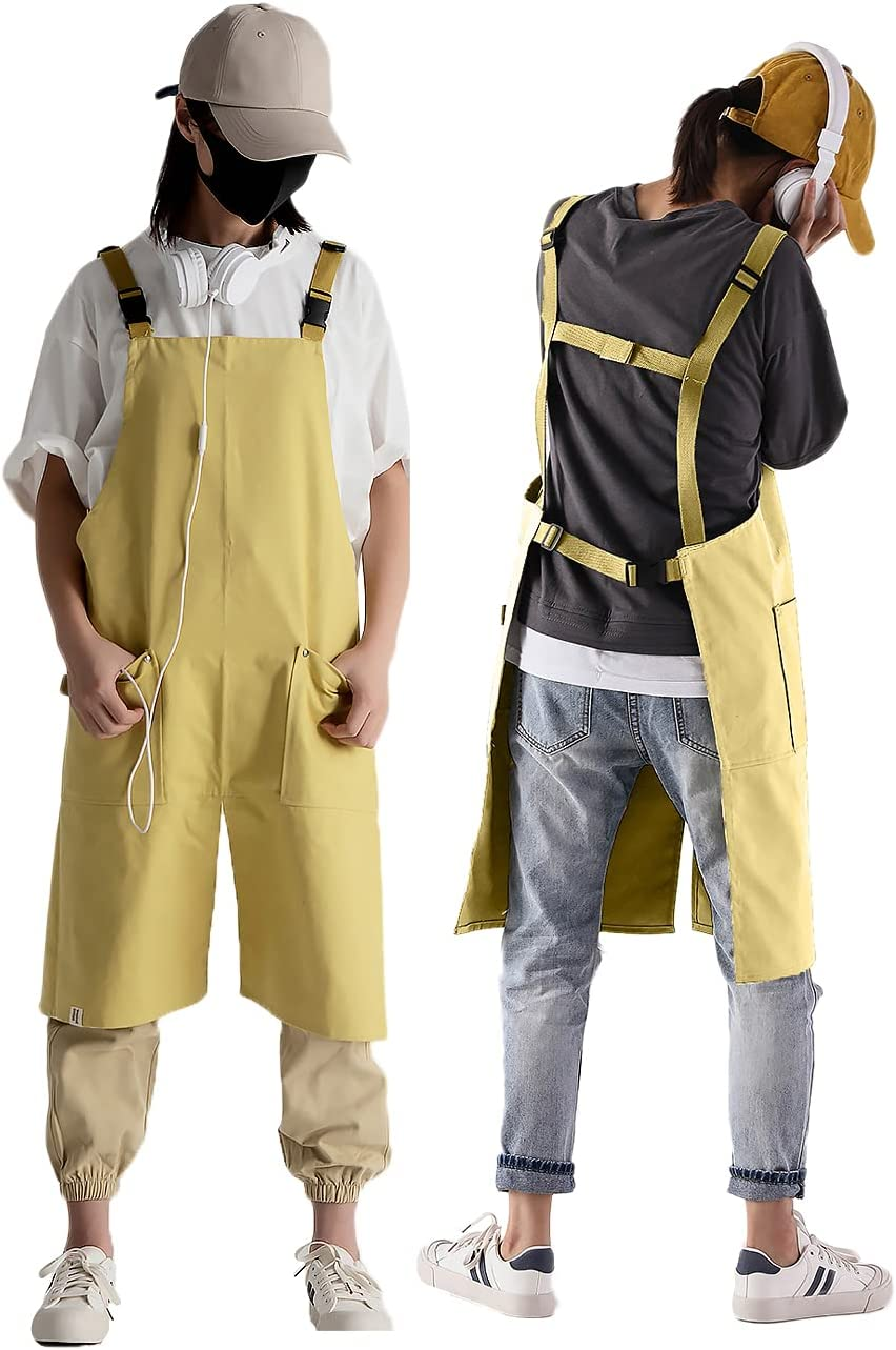 Unisex Workwear Apron Canvas Bib Coverall Waterproof Beauty products Co Overalls Limited time trial price