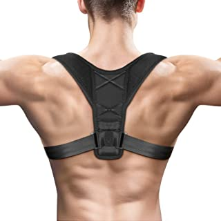 Syntus Posture Corrector Clavicle Brace Back Shoulder Support with Adjustable Strap for Men, Women, Office Workers