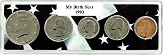 1993-5 Coin Birth Year Set in American Flag Holder Uncirculated