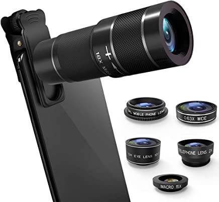 Phone Camera Lens Kit, 6 in 1 Cell Phone Camera Lens with...