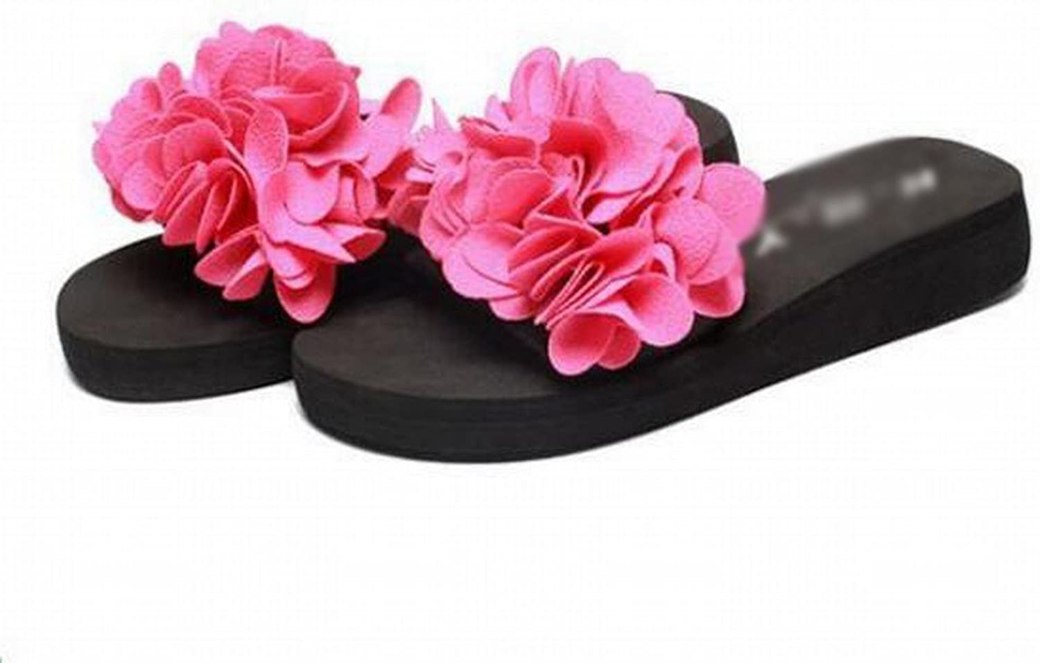 Slipper Female Summer Beach Wear Flower Slippers Camellia Sandals and Slippers Students Outdoor with a Word Slippers