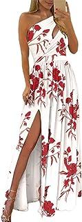 Vestido de verão sem mangas, estampa floral, bainha grande, vestido elegante
