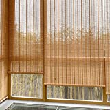 Refue Persiana Estor de bambú para Exteriores,Cortinas De Bambú, persianas enrollables de Madera, 50-150 cm de Ancho, 90-250 cm de Largo, Impermeable Prueba de Midew