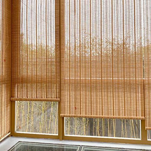 Outdoor Bambus Rollo, Bambusraffrollo, Holz Bambusrollo, 50-150 cm breit, 90-250 cm lang, Wasserdicht Midew Beweis