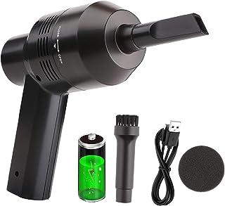 Cordless Mini Portable Vacuum CleanerMini Computer Vacuum Keyboard Vacuum Cleaner for Car Pet Hairs Crumbs Scraps Cigarett...