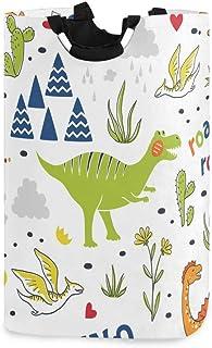 Mnsruu Panier à linge pliable avec poignées Motif dinosaure