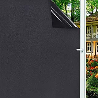 Privacy Window Film,Frosted Privacy Window Tint Matte Glass Tint for Home UV Blocking Cover Heat Control No Glue Static Cl...