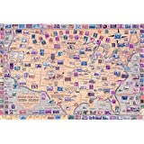 Yingxin34 Puzzle 2000 Mapamundi de Colores Puzzle 2000 Piezas únicas 70x100cm
