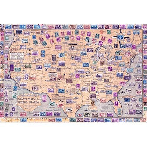 Rompecabezas de 1000 piezas de colores mapa del mundo de los nios aprendizaje de la cognicin juguetes adultos cerebrales juegos juegos de inteligencia de madera rompecabezas