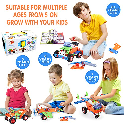 VATOS STEM Toys, Building Toys 165 PCS Educational Toys for 4- 5 6 7 8 9 Year Old Boys Learning Toy Construction Kit Engineering Fun Montessori Toys for Boys & Girls Best Birthday Toy for Kids