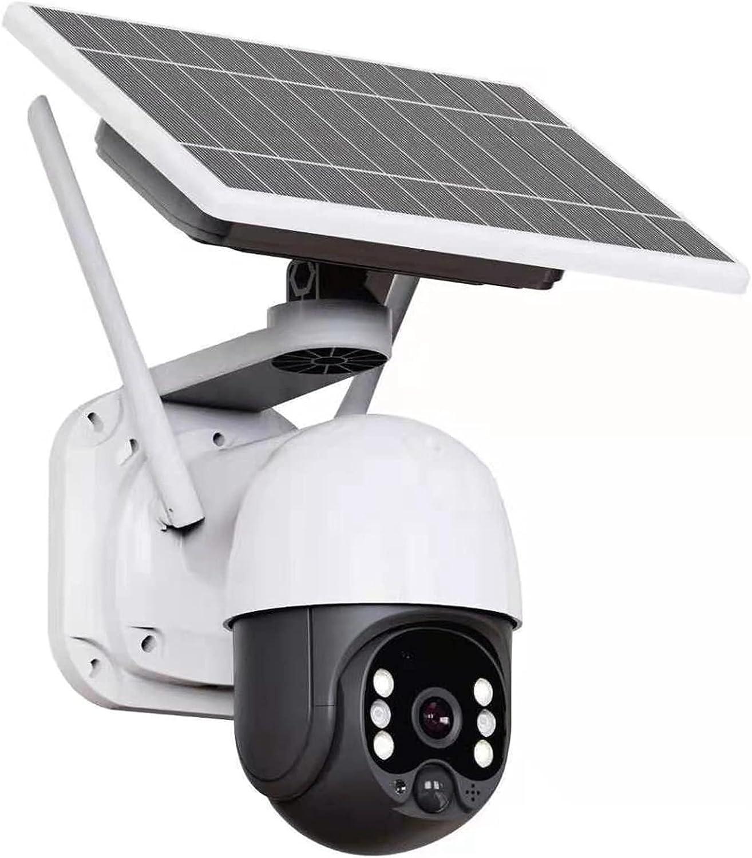 TOOGOO CáMara de Seguridad Solar CáMara WiFi InaláMbrica para Exteriores VisióN Nocturna en Color de Alta DefinicióN Vista de 360 ° para la Casa Monitor de TeléFono MóVil