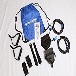 StrechCordz Modular Set ~ Blue 14-34lbs ~ Swimmer's Wet & Dry Land Kit for swimmer's Pull, tricep Extensions, Rowing, Overhead Raises, Proper Hip Rotation, Stroke Efficiency