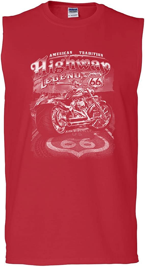 Tee Hunt Live to Ride Old School Muscle Shirt Biker Route 66 Ride to Live MC Sleeveless