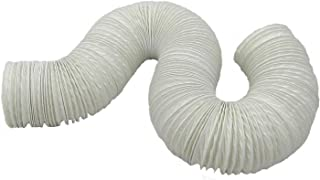 Aktivat 6 m Abluftschlauch Durchmesser 125/127 mm flexibel - max Länge 6 Meter - PVC - weiß - für Mobile Klimageräte, Trockner, Abzugshauben und Anlagen