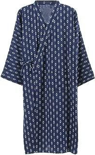 Men's Japanese Style Robes Pure Cotton Kimono Robe Bathrobe Pajamas #03