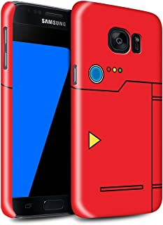 Gloss Phone Case for Samsung Galaxy S7/G930 Anime Cartoon Codex Red Design Glossy Hard Snap On Cover