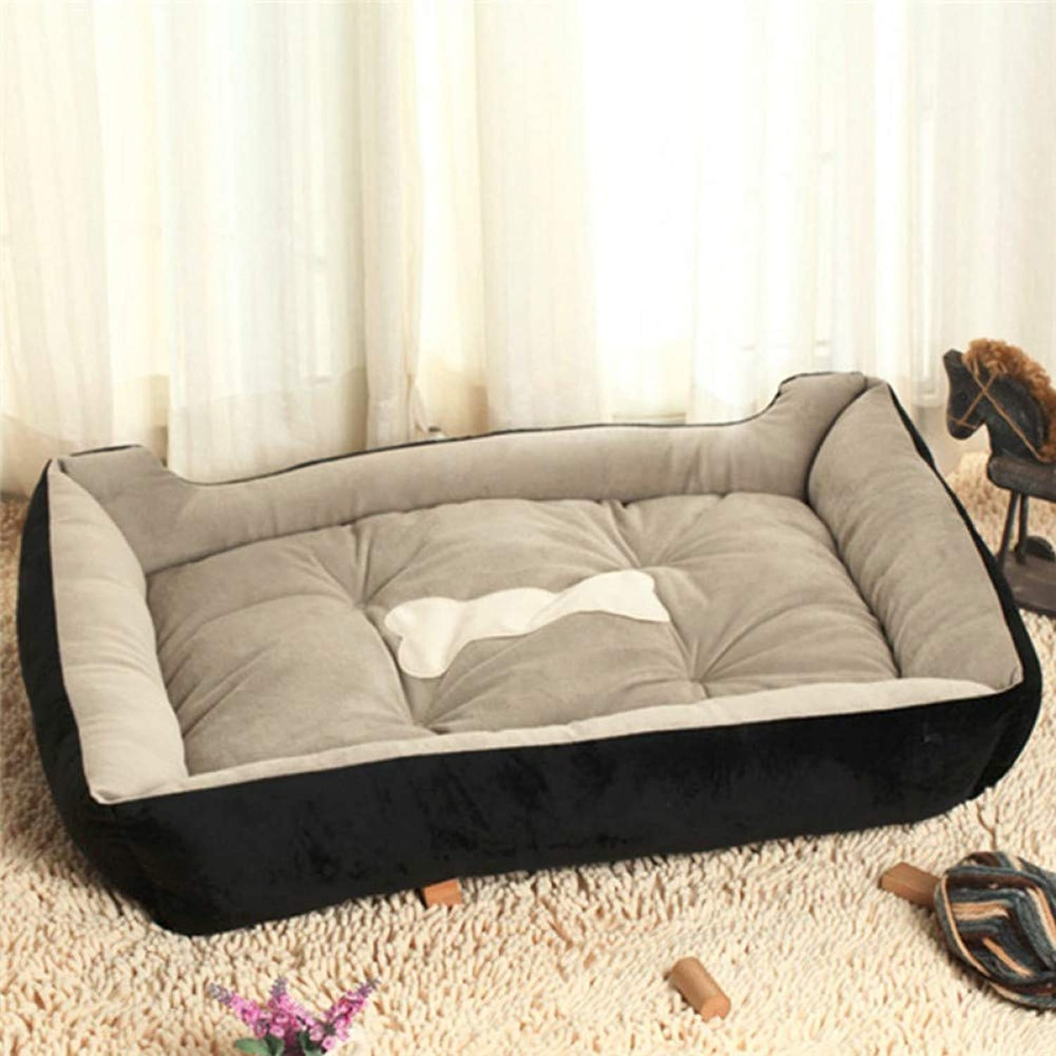 Big Size Dog Couch Cozy Dog Lounger Sofas Samoyed Bulldog Bed House XL Bed Black Brown Spring Summer Autumn Winter Use