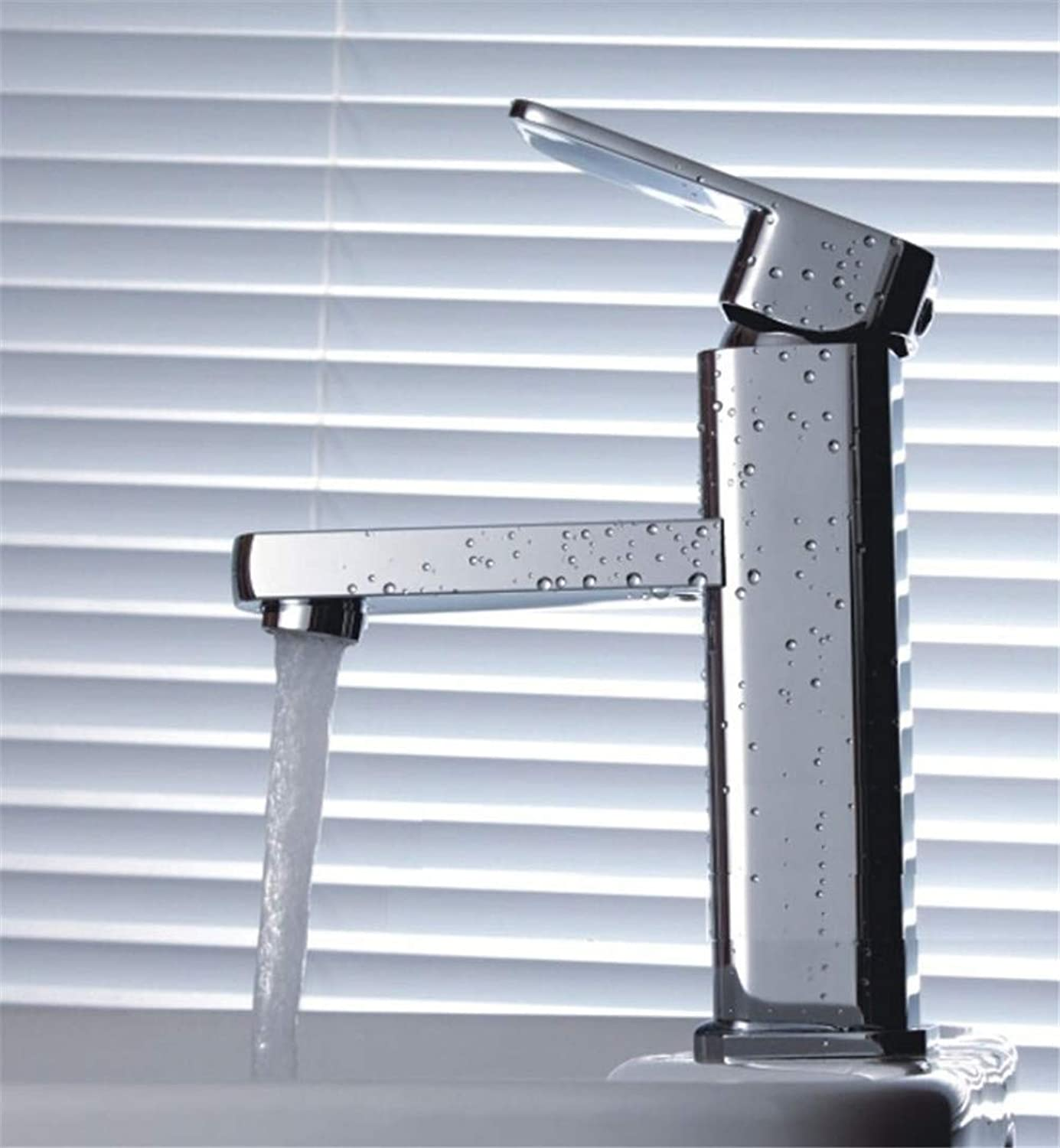 JONTON Faucet faucet faucet, all copper hot and cold single hole ???low section square washbasin basin