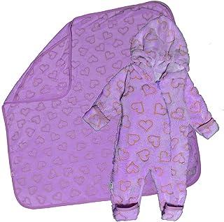 Baby Shoora botanical fibers baby bodysuit & Blanket for Unisex Purple-3-6Month
