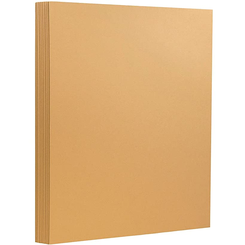 JAM PAPER Extra Heavyweight 130lb Cardstock - 8.5 x 11 Coverstock - Tan/Light Brown - 25 Sheets/Pack
