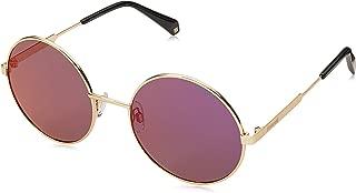 Polaroid Polarized Round Unisex Sunglasses - (PLD 4052/S J5G 55AI 55 Grey Color)